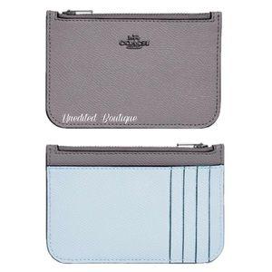 COACH Colorblock Card Holder Wallet